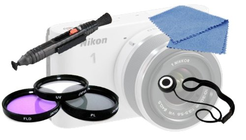 40.5Mm Multi-Coated 3 Pc Filter Kit (Uv, Cpl, Fld) + Lens Cleaning Pen + Lens Cap Keeper + Cleaning Cloth For Nikon 1 J1 Digital Camera