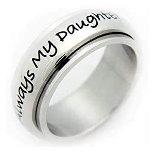 Amazon.com: Always My Daughter Now My Friend Spinner Ring - Mother