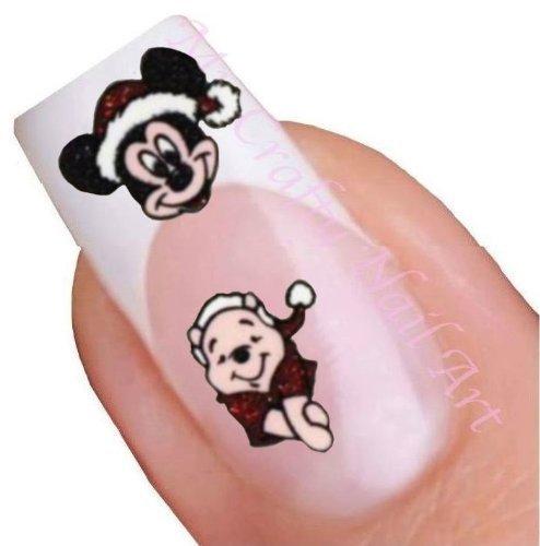 Nailart Sticker Weihnachten Winnie Pooh Glitter