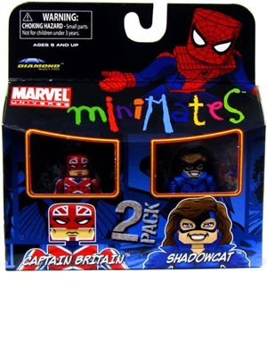 Buy Low Price Diamond Select Marvel Minimates Series 31 Mini Figure 2Pack Captain Britain & Shadowcat Classic Costume (B0034KR3GM)