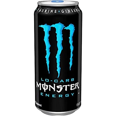 Monster Energy Drink, Lo-Carb, 16 Ounce (Pack of 20)