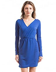 Prym Women's Wrap Dress (1011509301_Cobalt Blue_Large)