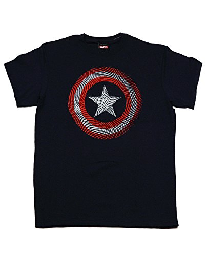 Official Marvel Adult Avengers Captain America Shield Short Sleeve T-Shirt