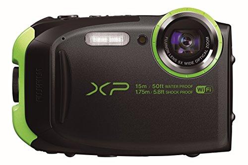 Fujifilm FinePix XP80 Fotocamera Digitale 16 Megapixel, Sensore CMOS, Zoom 5x, Impermeabile 15 Metri, Stabilizzatore Meccanico, Batteria al Litio, Nero