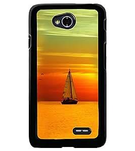 Printvisa Boat Sailing At Sunset Scenery Back Case Cover for LG L70 D320N::LG L70 Dual D325
