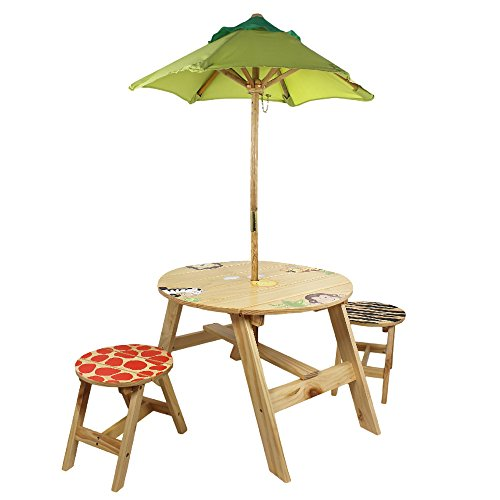 Fantasy Fields - Sunny Safari Outdoor Table & Set of 2 Chairs - 1
