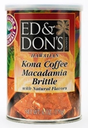 Hawaiian Value Pack Ed & Don's Kona Coffee Macadamia Nut Brittle 8 Cans