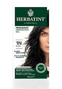 Herbatint 1N Black Permanent Herbal Hair Colour Gel 150ml