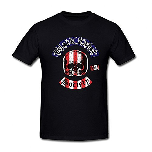 Men's Black Label Society Logo & American Flag T-shirt