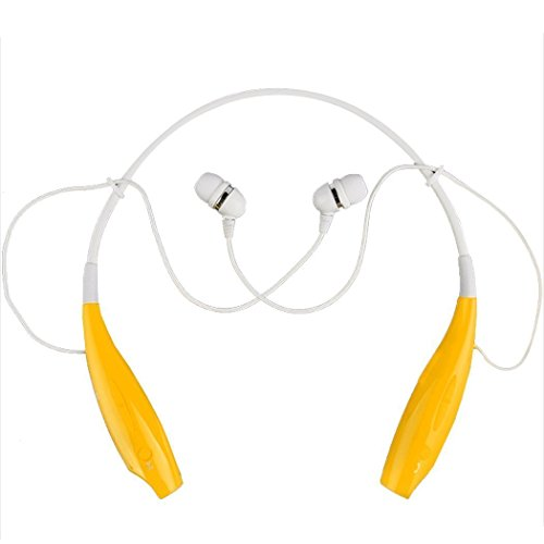 Bestfire® Hot Sale Brand New Universal Wireless Bluetooth Stereo Stero Headset Neckband Style Earphone And Handfree Headphones For Cellphones, Such As Iphone, Nokia, Htc, Samsung, Lg, Moto, Pc, Ipad, Psp & Any Bluetooth Enabled Device (Yellow)