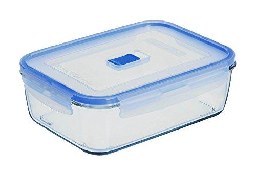 Luminarc Pure Box Active, contenitore in vetro con coperchio, rettangolare, 1220 ml, 1 pz