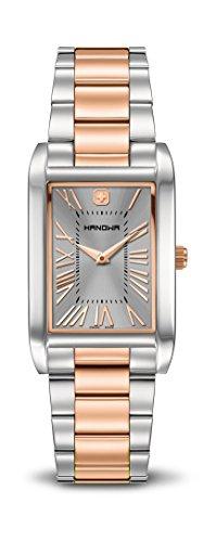hanowa-damen-armbanduhr-treasure-analog-quarz-one-size-grau-zweifarbig