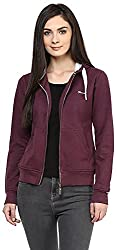 OKANE Women's Long Sleeve Sweatshirt (51751, Burgundy, S)
