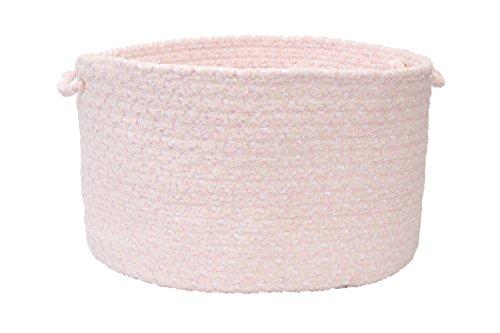 Colonial Mills Blokburst Utility Basket, 18 by 12-Inch, Blush Pink