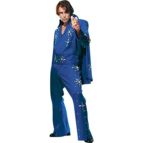Men's Blue XXL Elvis Costume