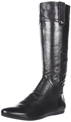 Nine West Women's Watermelon Knee-High Boot,Black Leather,5 M US