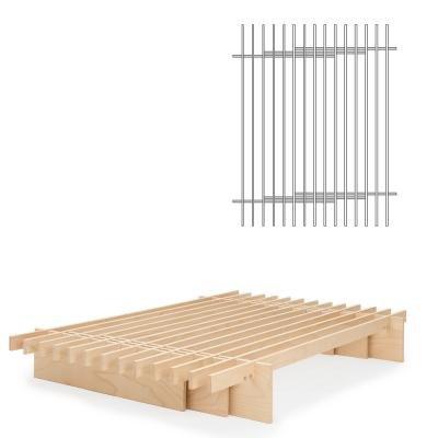 TOJO Parallel Bett 160 x 200 cm, Multiplex Buche natur