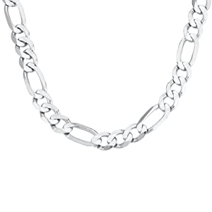 Men's 14k Yellow Gold 8.5mm Figaro Chain Necklace, 22