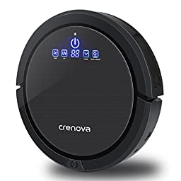Crenova Robot Vacuum Cleaner with Virtual Wall Fully Aucomatic Self-Charging Ultrasonic Obstacle and Duty Dection