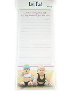 Leanin' Tree Magnetic List Pad - Writing This List, My Exercise For The Day