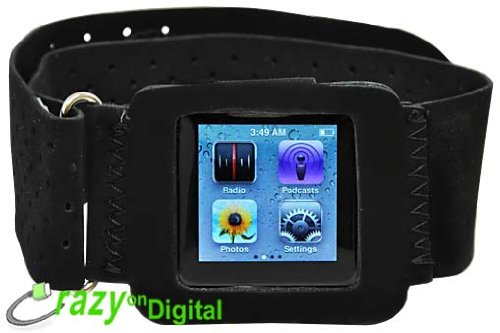 CrazyOnDigital Sporty Armband for Apple iPod Nano 6G 6th Generation. CrazyOnDigital Retail Package