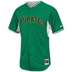 Pittsburgh Pirates Kelly Green BP Cool Base Jersey by Majestic by Majestic