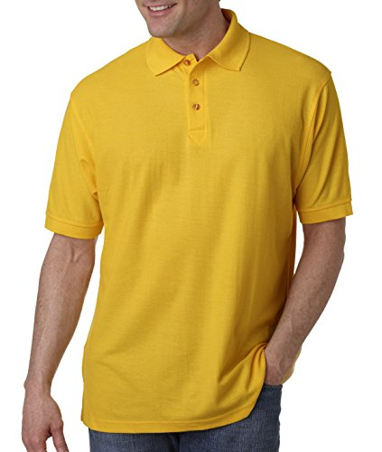 8540 UltraClub Men's Whisper Piqué Polo , Gold , Large