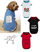 Funny Dog T-Shirts - Set Of 4 Small