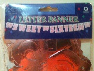 Sweet 16 Letter Banner - 1