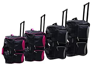 Travel Luggage Wheeled Trolley Holdall Suitcase Case Duffel Bag