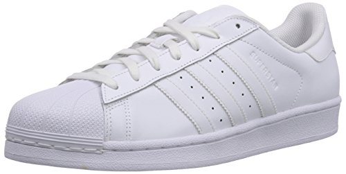 adidas Superstar Foundation, Sneakers Uomo/Donna, Bianco (Ftwr White/Ftwr White/Ftwr White), 46 2/3