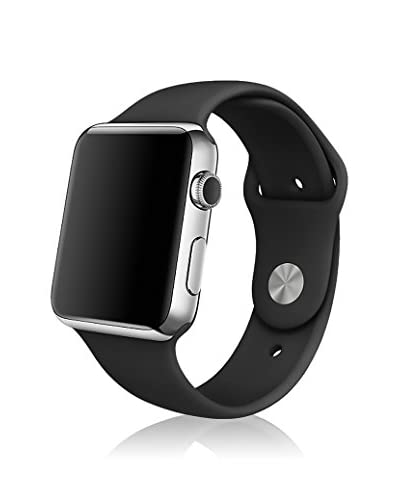 iPM Women's IPMSPRTSW-38-BK Soft Silicone Replacement Sports Band For Apple Watch, Black