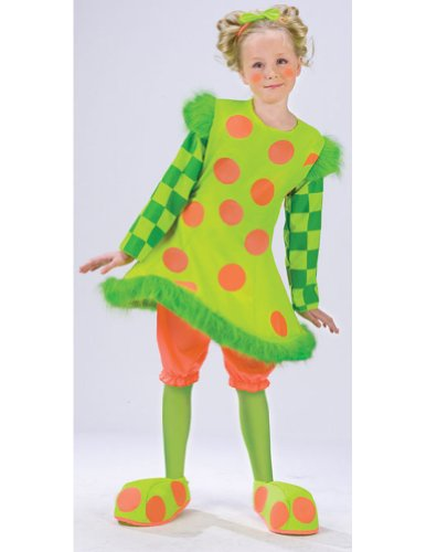 Lolli The Clown Child Medium Kids Girls Costume