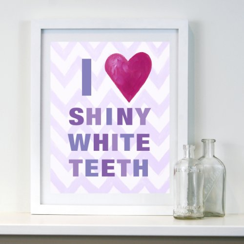 Cici Art Factory Wall Hanging, I Heart Shiny White Teeth Lilac