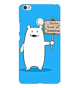 EPICCASE Funny polar bear Mobile Back Case Cover For Xiaomi Mi Max (Designer Case)