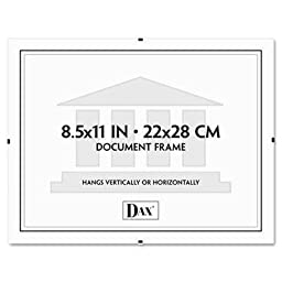 Dax - 4 Pack - Document Clip Frame 8-1/2 X 11 Clear \