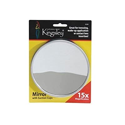 Harry D Koenig & Co 15x Magnification Mirror with Suction Cup Round 5 Inch New