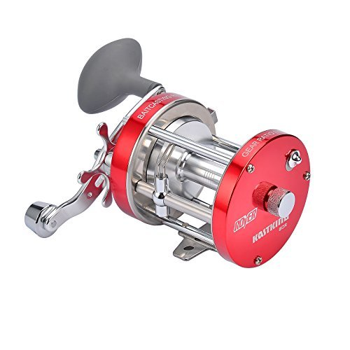 KastKing Rover Round Baitcasting Reel – No. 1 Rated Conventional Reel - Carbon Fiber Star Drag - Reinforced Metal Body & - 2016 Rover RXA Conventional Reel Inshore and Offshore Saltwater and Freshwater Reel - Award Winning Manufacturer