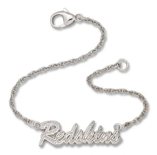 Washington Redskins NFL Sterling Silver Script Bracelet