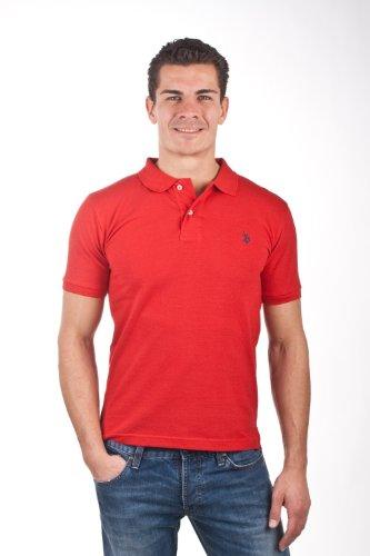 U.S.Polo Assn. men's Poloshirt Pique red USP1010, Größe:M
