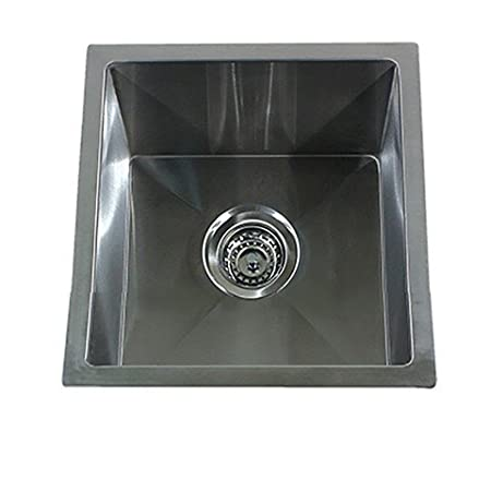 "Nantucket Sinks SR1515-15"" Pro Series Square Undermount Small Radius Stainless Steel Bar Sink"