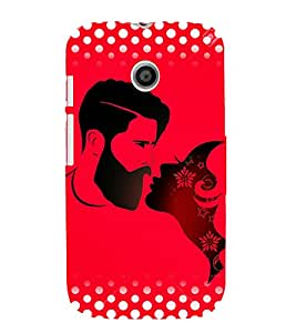 Man And Woman 3D Hard Polycarbonate Designer Back Case Cover for Motorola Moto E XT1021 :: Motorola Moto E (1st Gen)