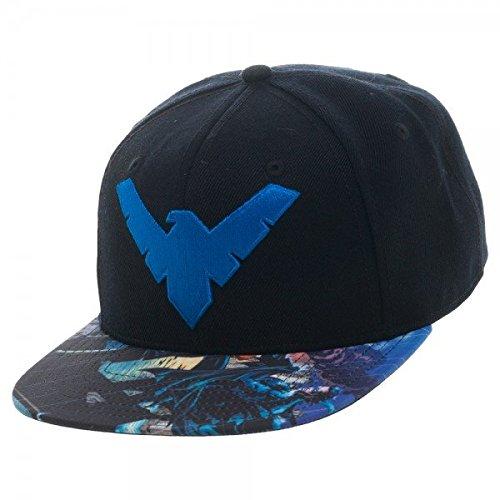 BIOWORLD DC Comics Batman Nightwing Logo Sublimated Bill Snapback Cap at Gotham City Store