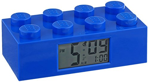 LEGO Kids' 9002151 Blue Plastic Alarm Brick Clock