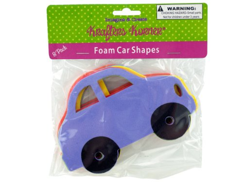 Foam Car Craft Shapes - Case of 72