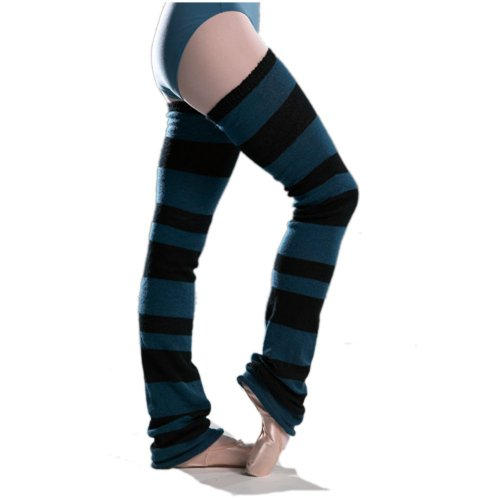 Ballettstulpen mit modernen Blockstreifen - ca. 90cm lang - Beinwärmer