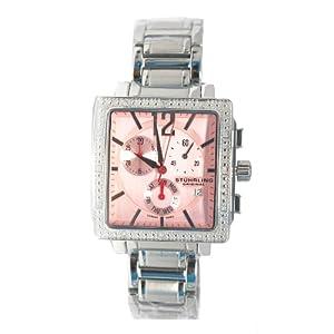 Stuhrling Original Women's Diamond Bracelet Watch in Pink