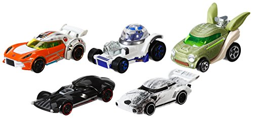 Hot Wheels - Cgx36 - Voiture De Circuit - Star Wars - Pack De 5
