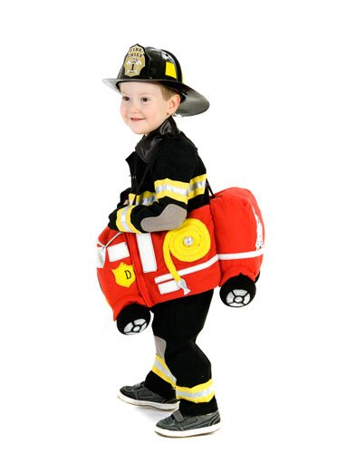 Kid's Ride-In Fire Truck Costume – One Size Fits Most (Standard) image