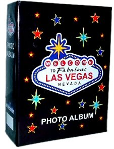 Las Vegas Photo Album - Welcome, Las Vegas Photo Albums, Las Vegas Souvenirs. Holds 100 4X6 Photos